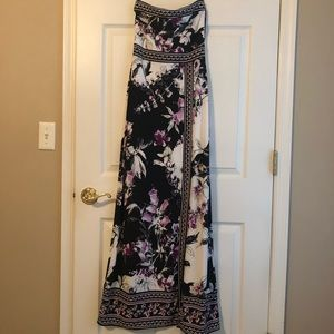 Beautiful long strapless dress. Worn once.